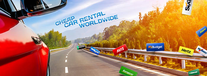 Facebook header for car rental company