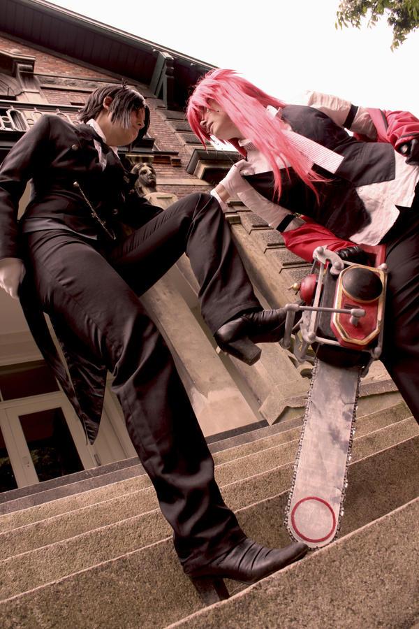 Sebastian and Grell fight by YamiNoShadow
