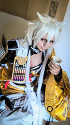 Kogitsunemaru - relaxing with drinks by ShadowFox-Cosplay