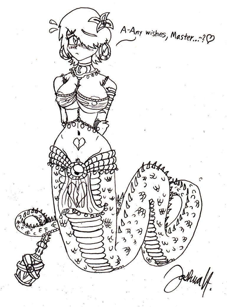 AJ The Lamia Genie~ by Dukewolfendoom