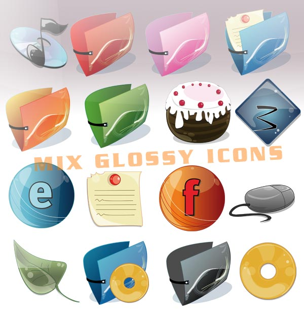 Mix Glossy Icons by floina