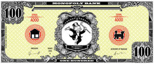 Monopoly bank note 100 poly