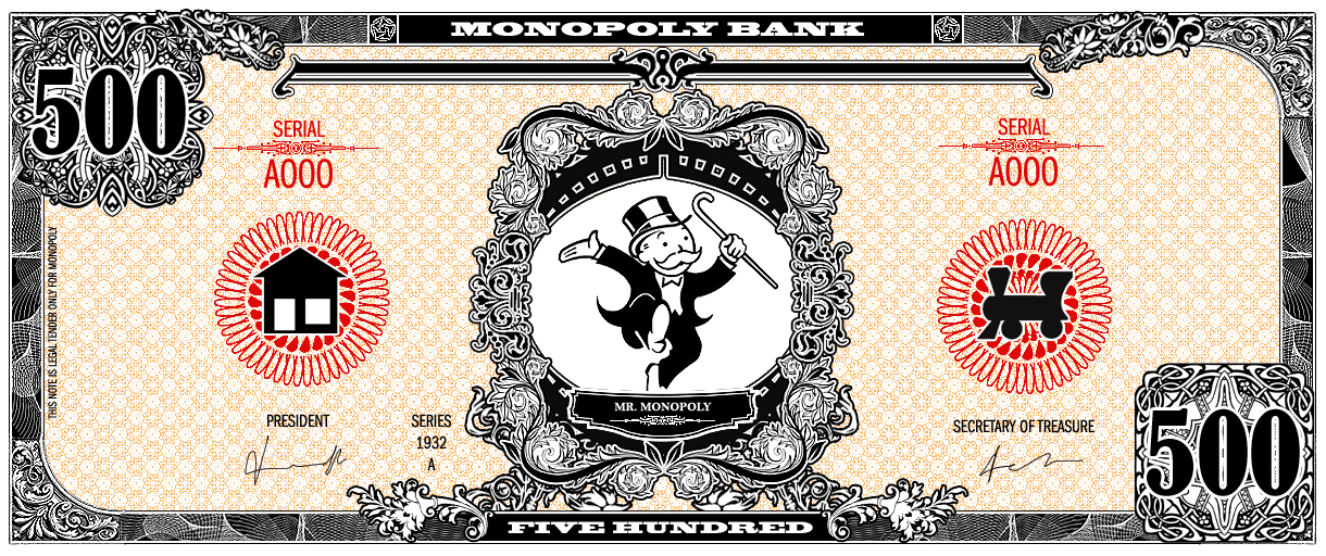 Monopoly bank note 500 poly by ironic440 on DeviantArt – Money Note Template
