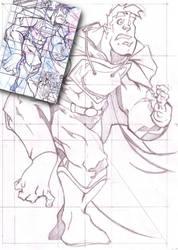 Copiando Superman by barrabox