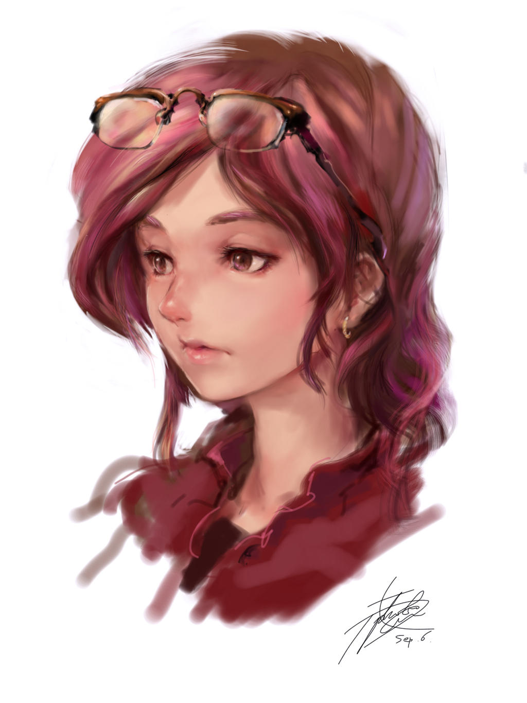 iPad finger drawing- Yu rana, 5 years later by ptcrow