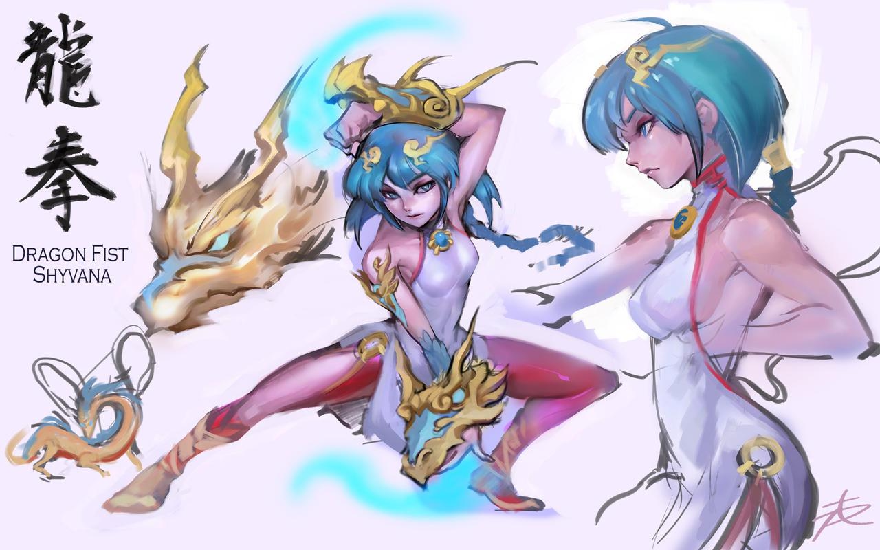 Dragon fist style