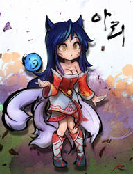 Ahri :3 by ptcrow