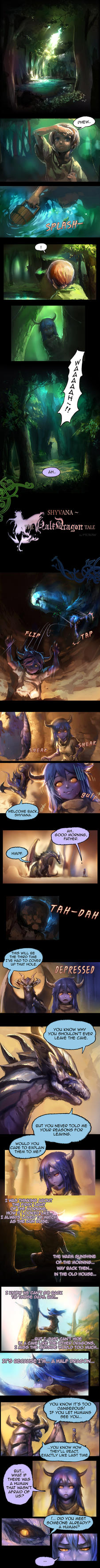 Shyvana~ The Half Dragon Tale. Page 1/6 by ptcrow