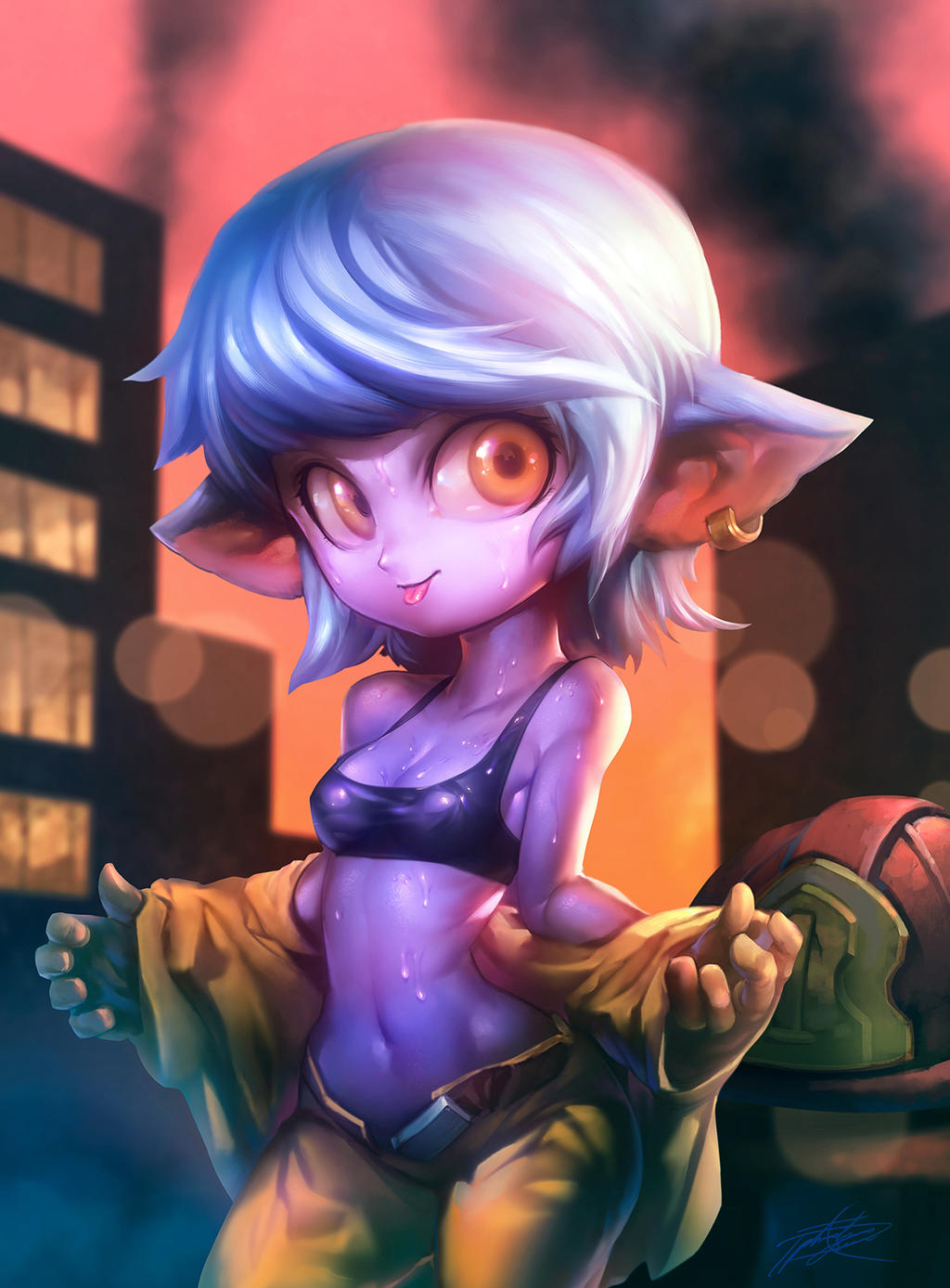 Firefighter Tristana by ptcrow on DeviantArt