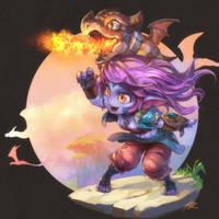 Dragon Trainer Tristana by ptcrow