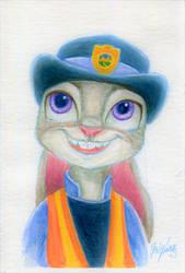 Judy Hopps - Watercolor by Invalid-David