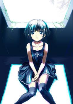 Girl of black dress
