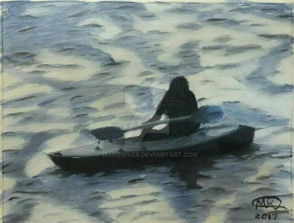 Kayaking at Sundown by MarieRiver