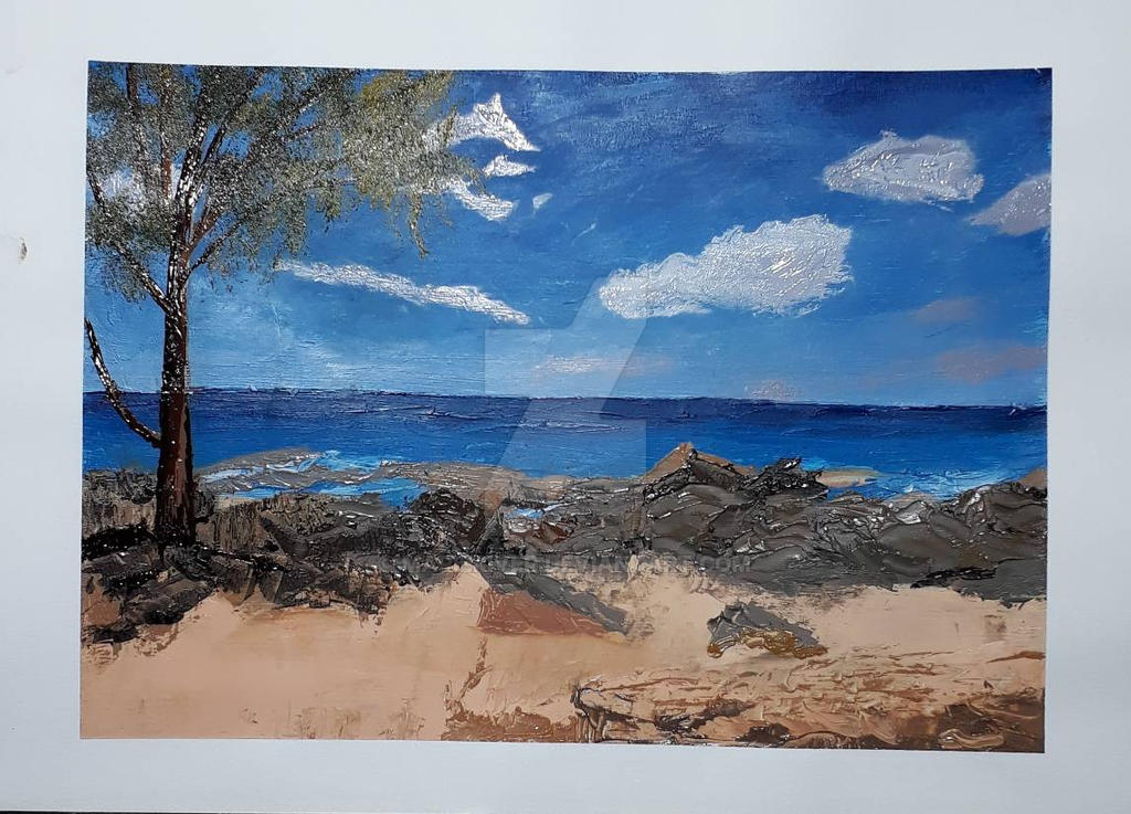 Beach Study in Oils by MarieRiver