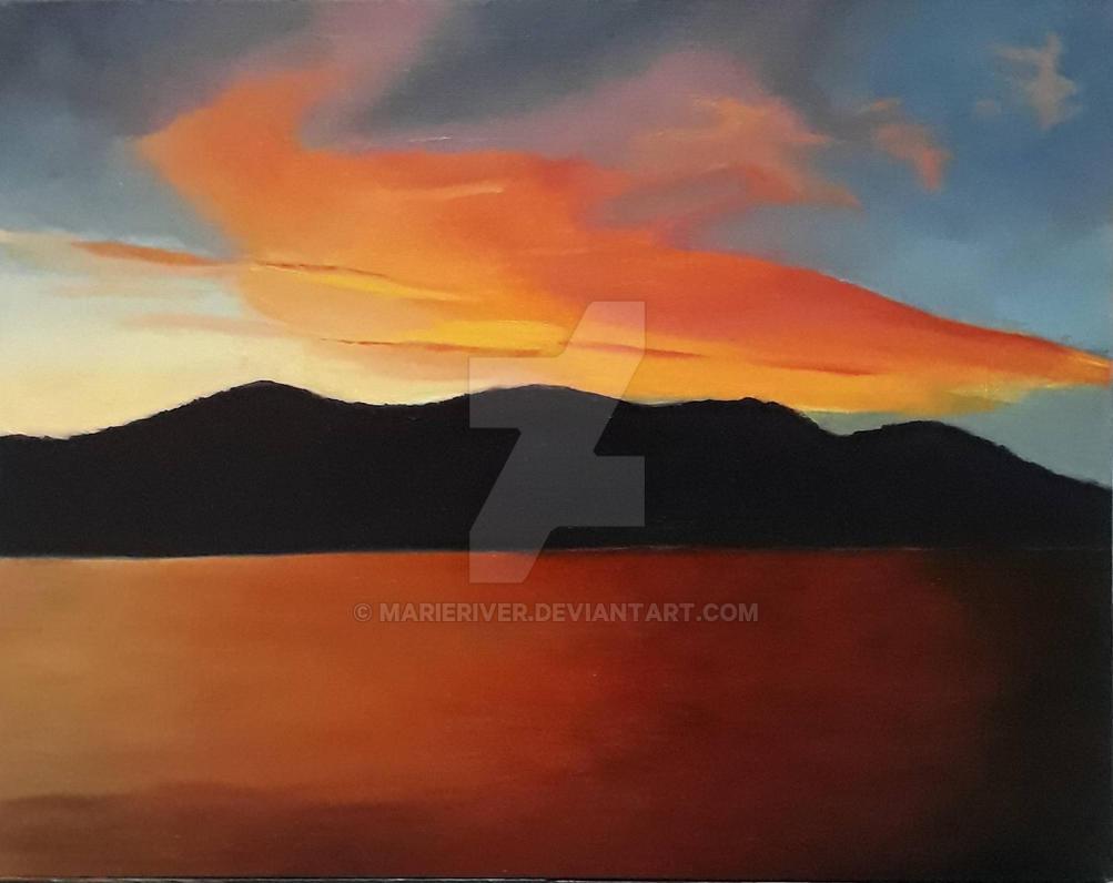 Sky on Fire by MarieRiver