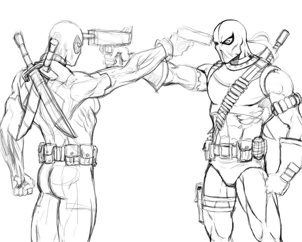 Deadpool vs DeathStroke 2 by Kaywest on DeviantArt