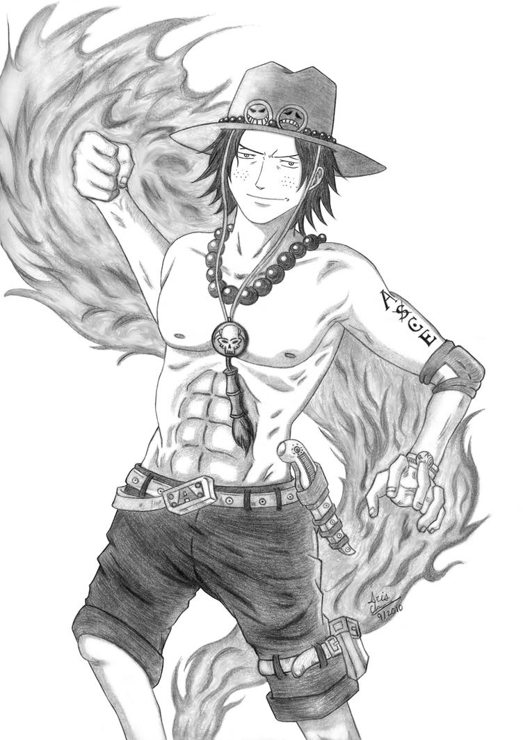 One piece portgas d ace by slamduncan2115 on deviantart - Comment dessiner luffy ...