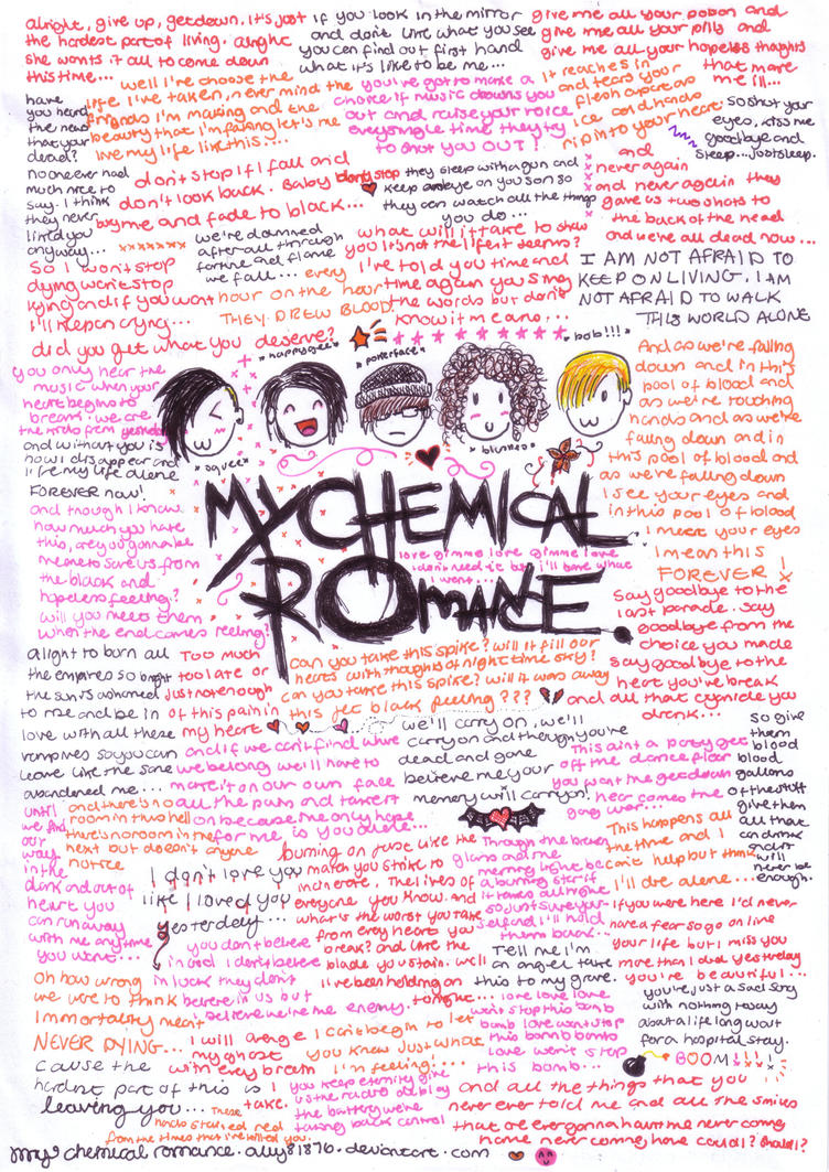My Chemical Romance Lyrics Wallpaper 26804 Newsmov