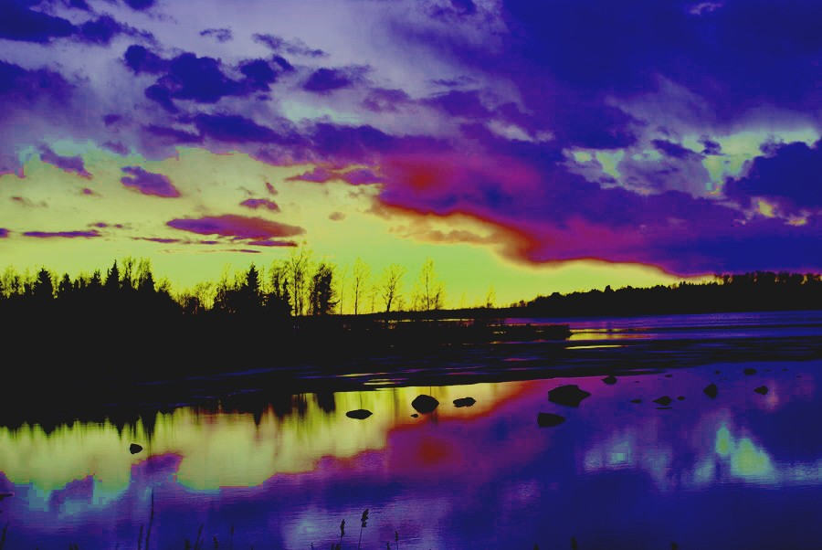 Edit blue sunset by Orkekum