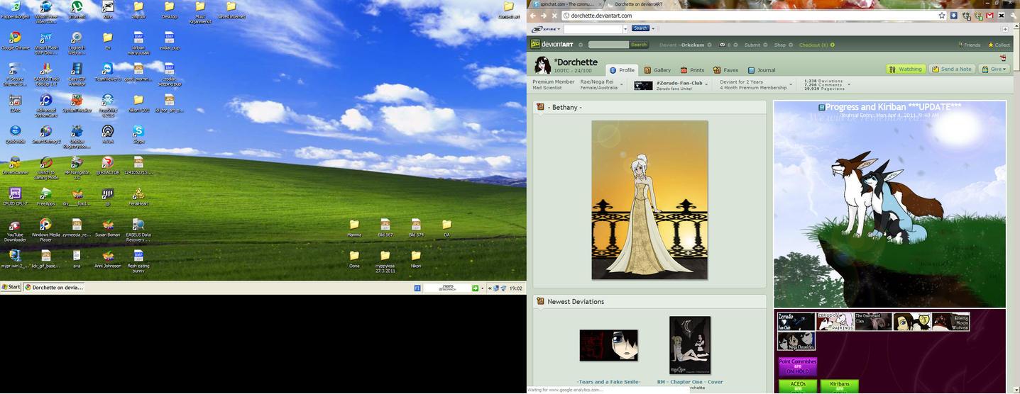 My computer screen by Orkekum