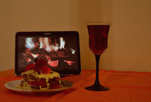 A lonely valentines day by the fire