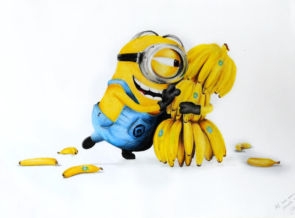 how to draw a minion with a banana