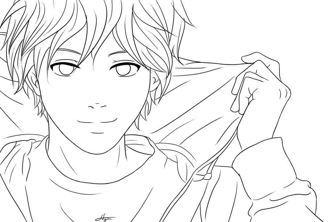 Line Art Deviantart : Lineart boy by sofyarts on deviantart