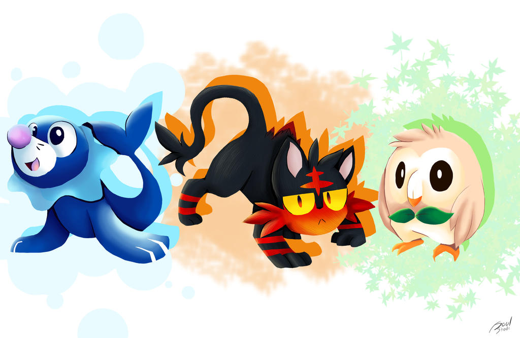 Pokemon Starters Gen 7 Images