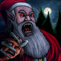 Bloodsucking Santa by Escama