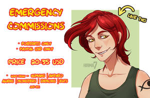 OPEN | EMERGENCY COMMISSIONS by Hirma7