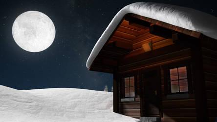 winter chalet by ArnaudLonys