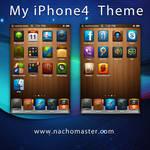 Woodtheme iPhone 4