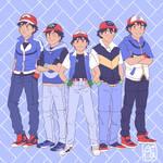 Pokemon's 20th Anniversary / Ash x5