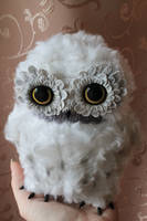 Art doll. Cute white owl by RedFoxAlice