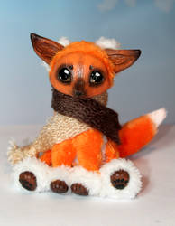 Ginger fox in a scarf