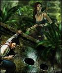 Lara Croft x Nathan Drake