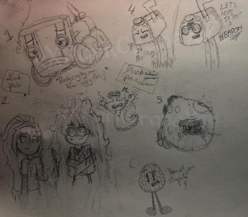 Random Sketches of Random Things by xXDarkCraneXx