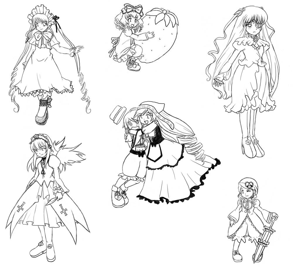 Rozen Maiden Doodles by