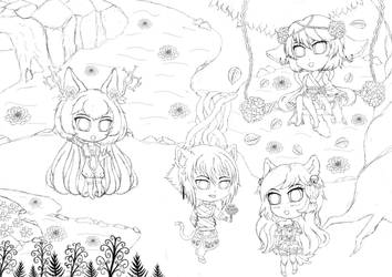 work in progress chibi contest drawing