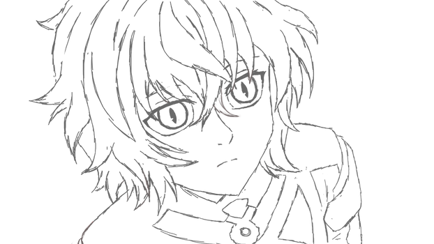 Mikaela Hyakuya WIP fast sketch