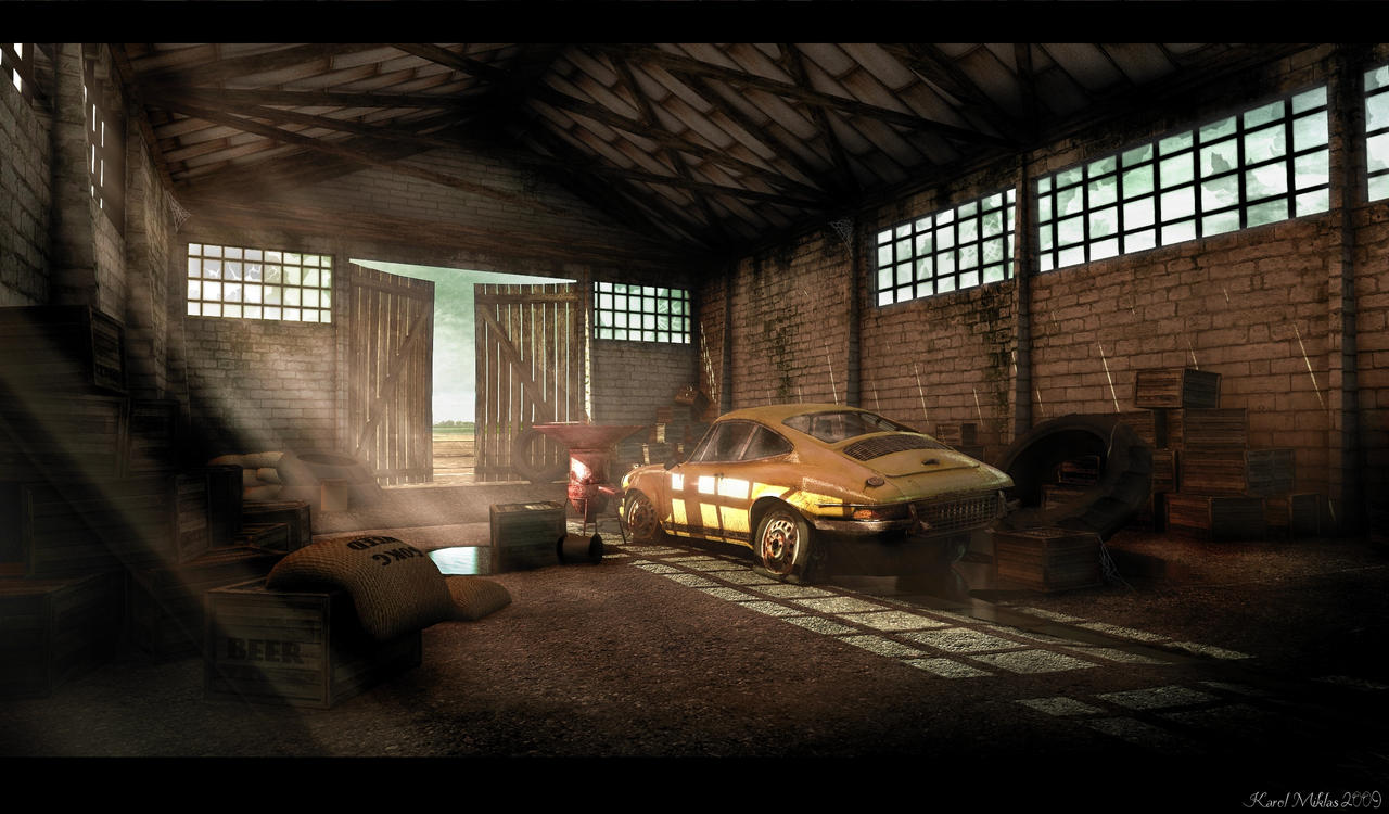 Inside the old barn   ...