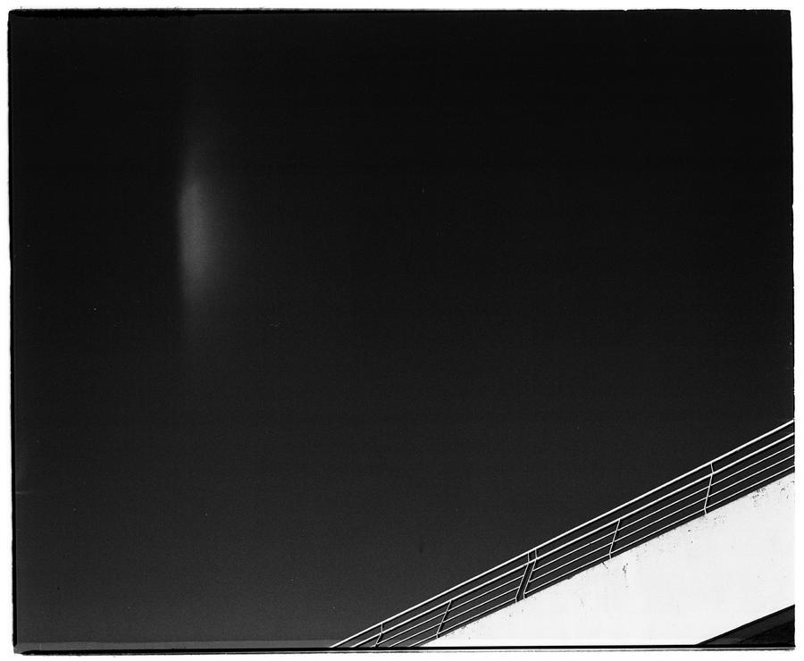 Deep blue sky in black by edredon