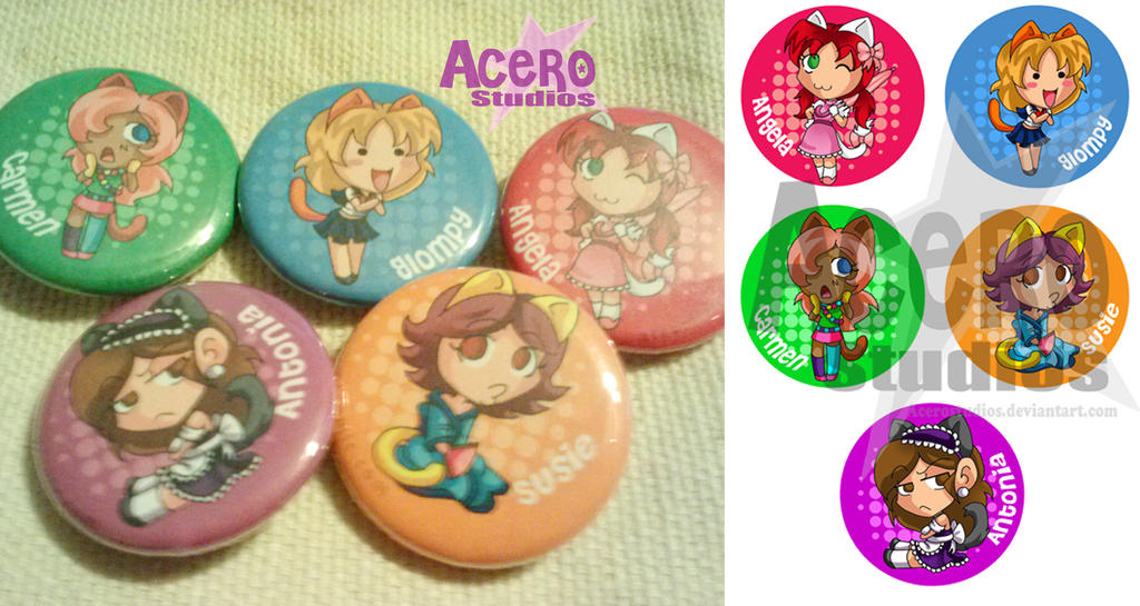 Fangirl buttons by AceroStudios