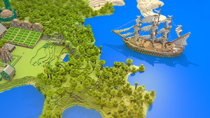 Minecraft Landscape Wallpaper