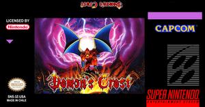 Demon's Crest Label Snes
