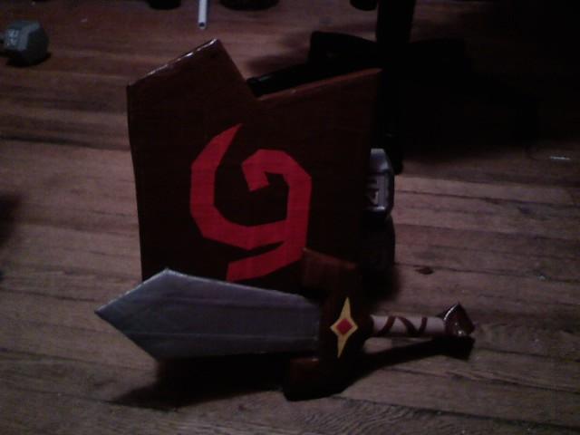 kokiri sword and deku shield by ductilecreations on deviantart