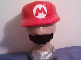 Mario Hat and Mustache by DuctileCreations