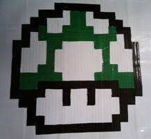 Green Pixel Mushroom by DuctileCreations