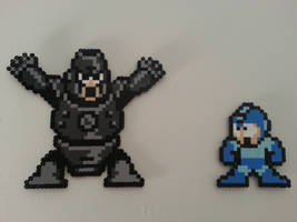 Hardman and Megaman by DuctileCreations
