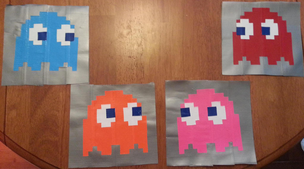 Pacman Ghosts by DuctileCreations
